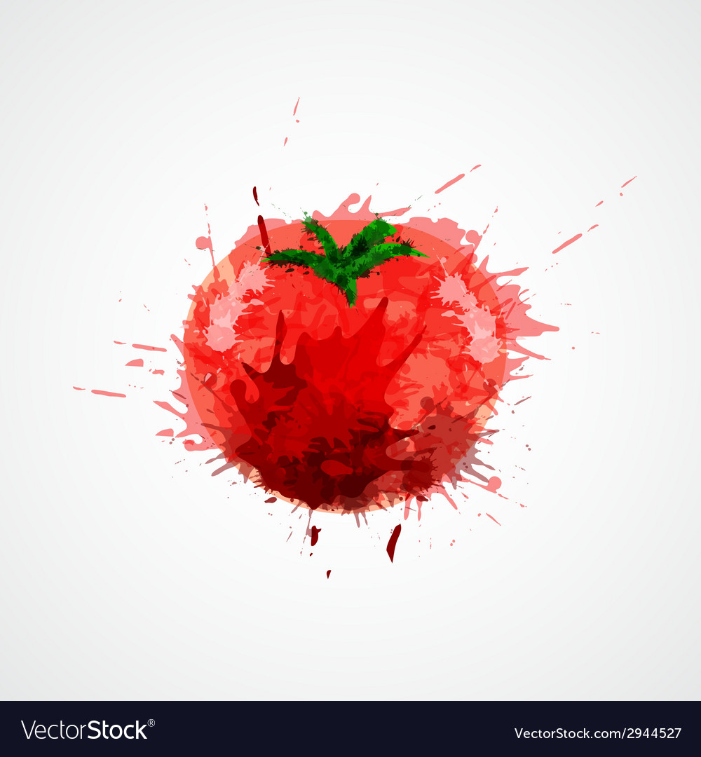 Tomato stained isolated vector | Price: 1 Credit (USD $1)