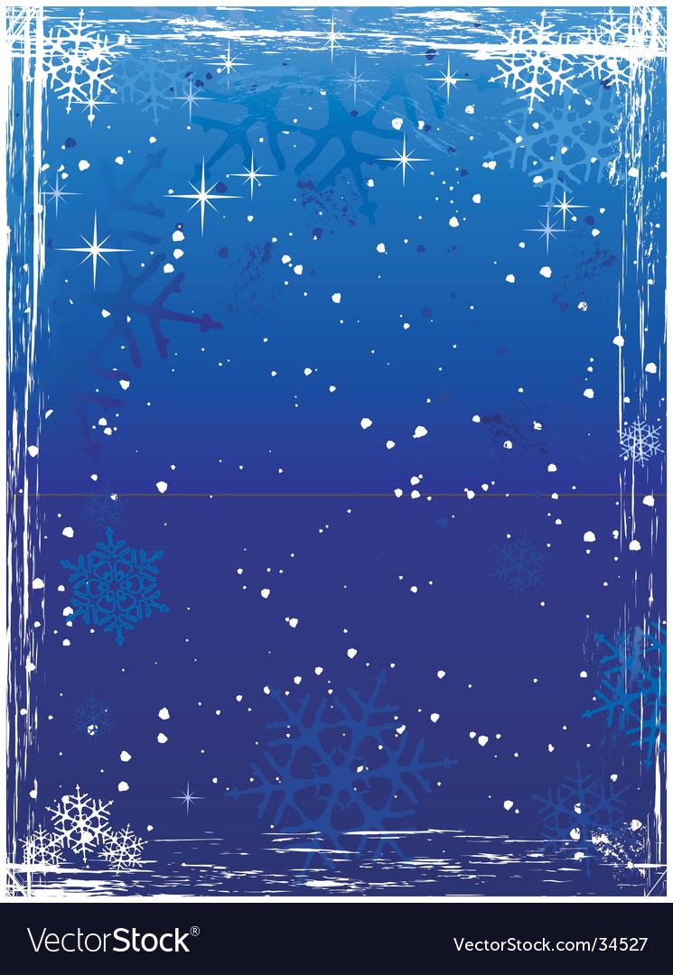 Vertical blue grunge winter background vector | Price: 1 Credit (USD $1)