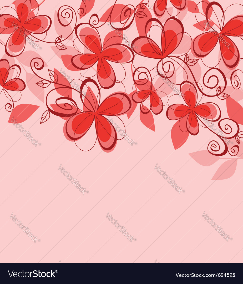 Colorful abstract floral vector | Price: 1 Credit (USD $1)