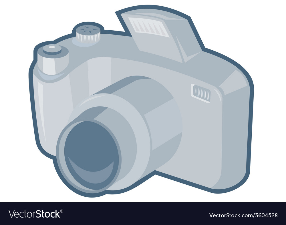 Dslr camera retro vector | Price: 1 Credit (USD $1)