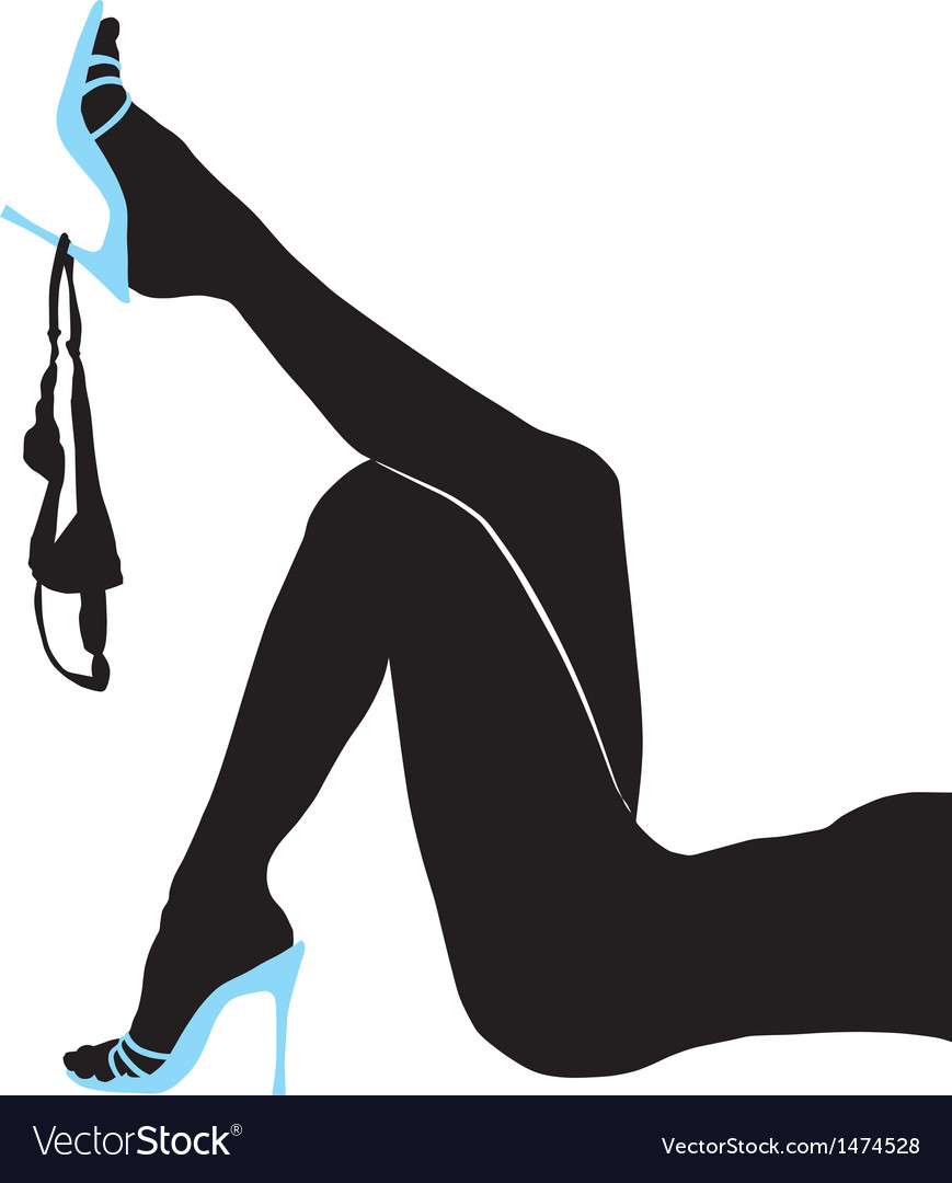 Female slender legs panties vector | Price: 1 Credit (USD $1)