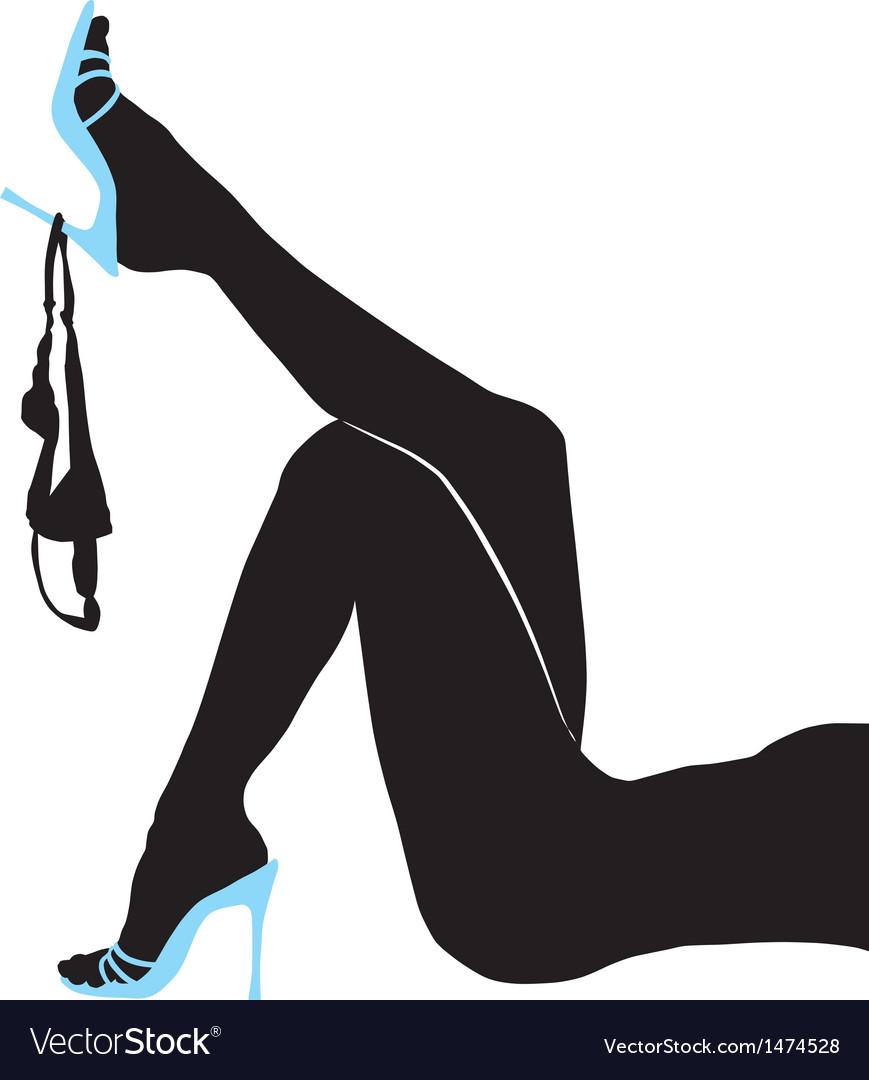 Female slender legs panties vector | Price: 1 Credit (USD $1)