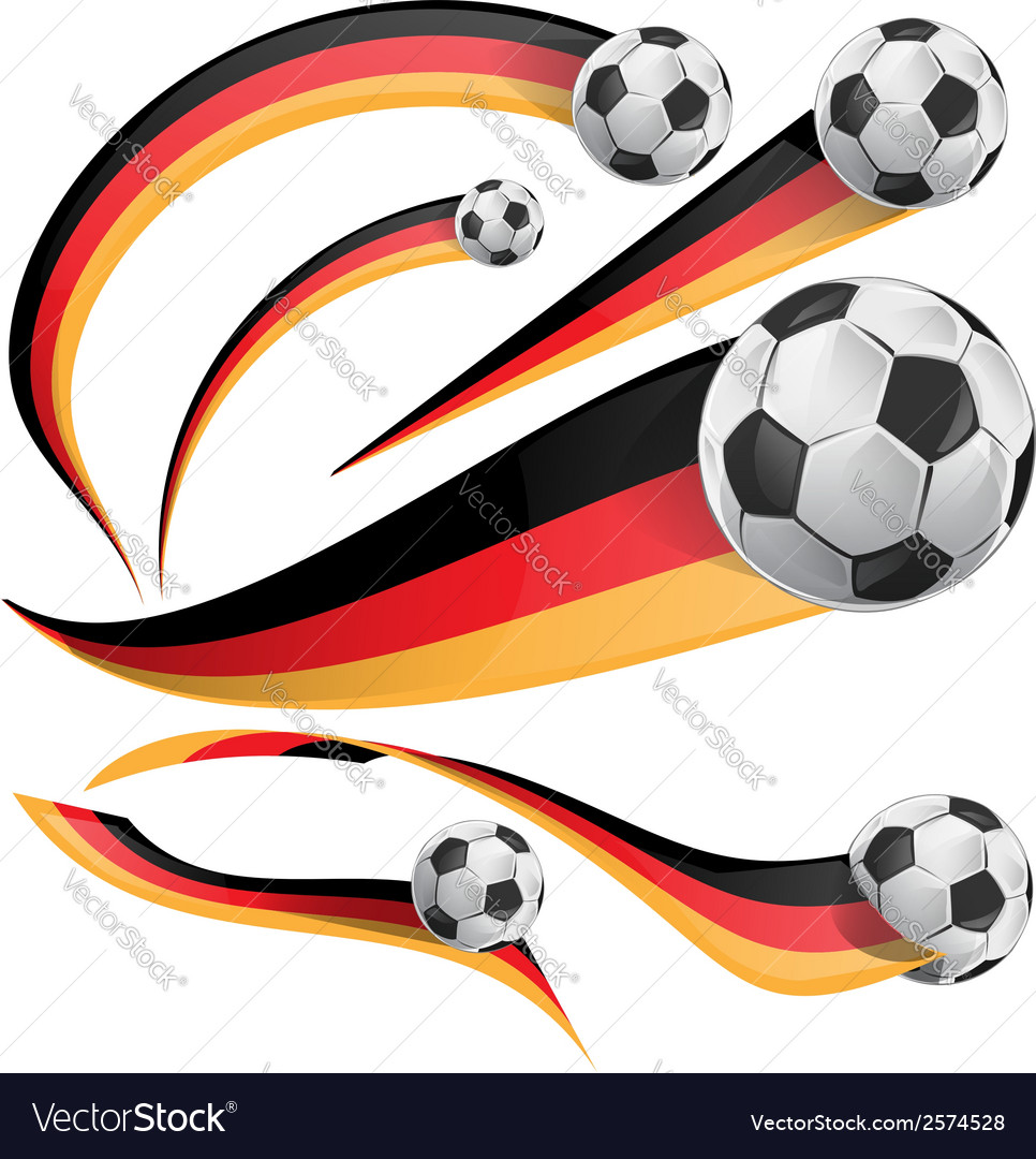 Germany flag with soccer ball vector | Price: 1 Credit (USD $1)