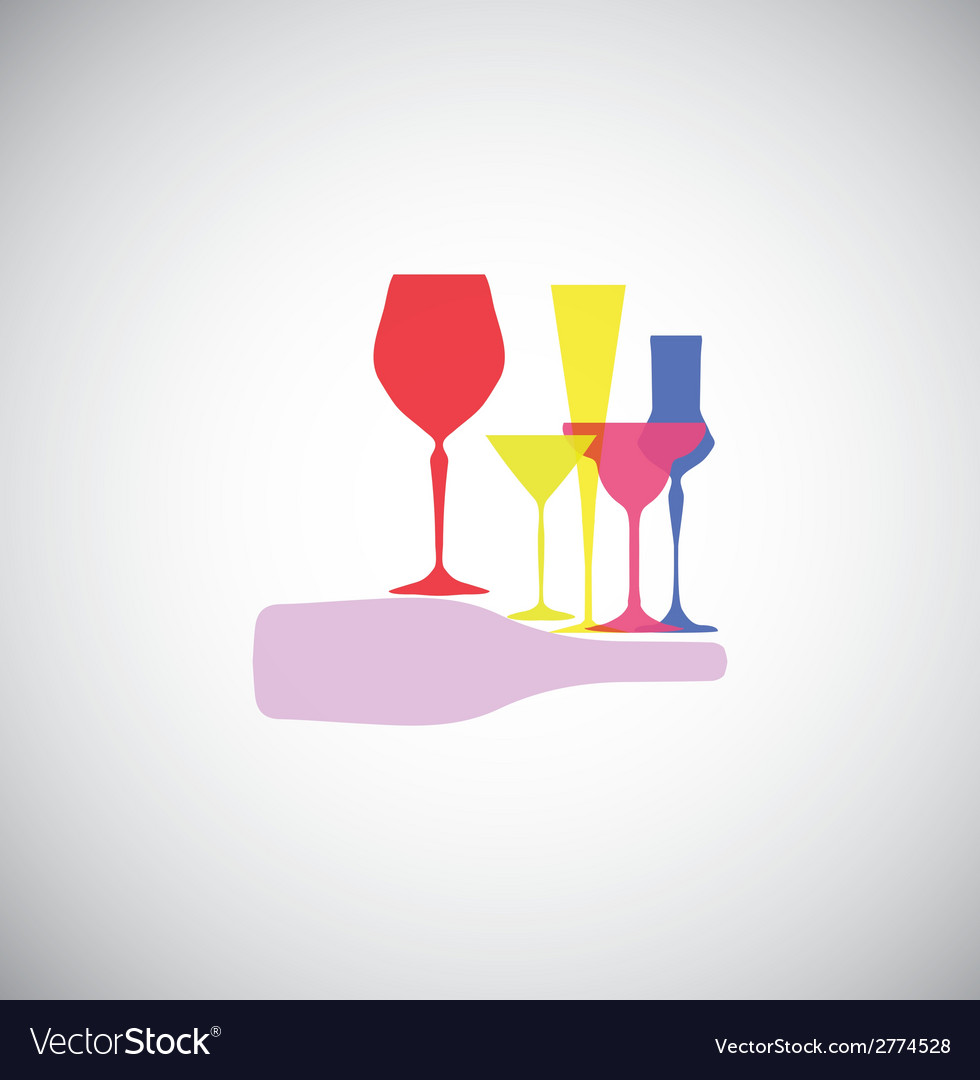 Glass collection vector | Price: 1 Credit (USD $1)