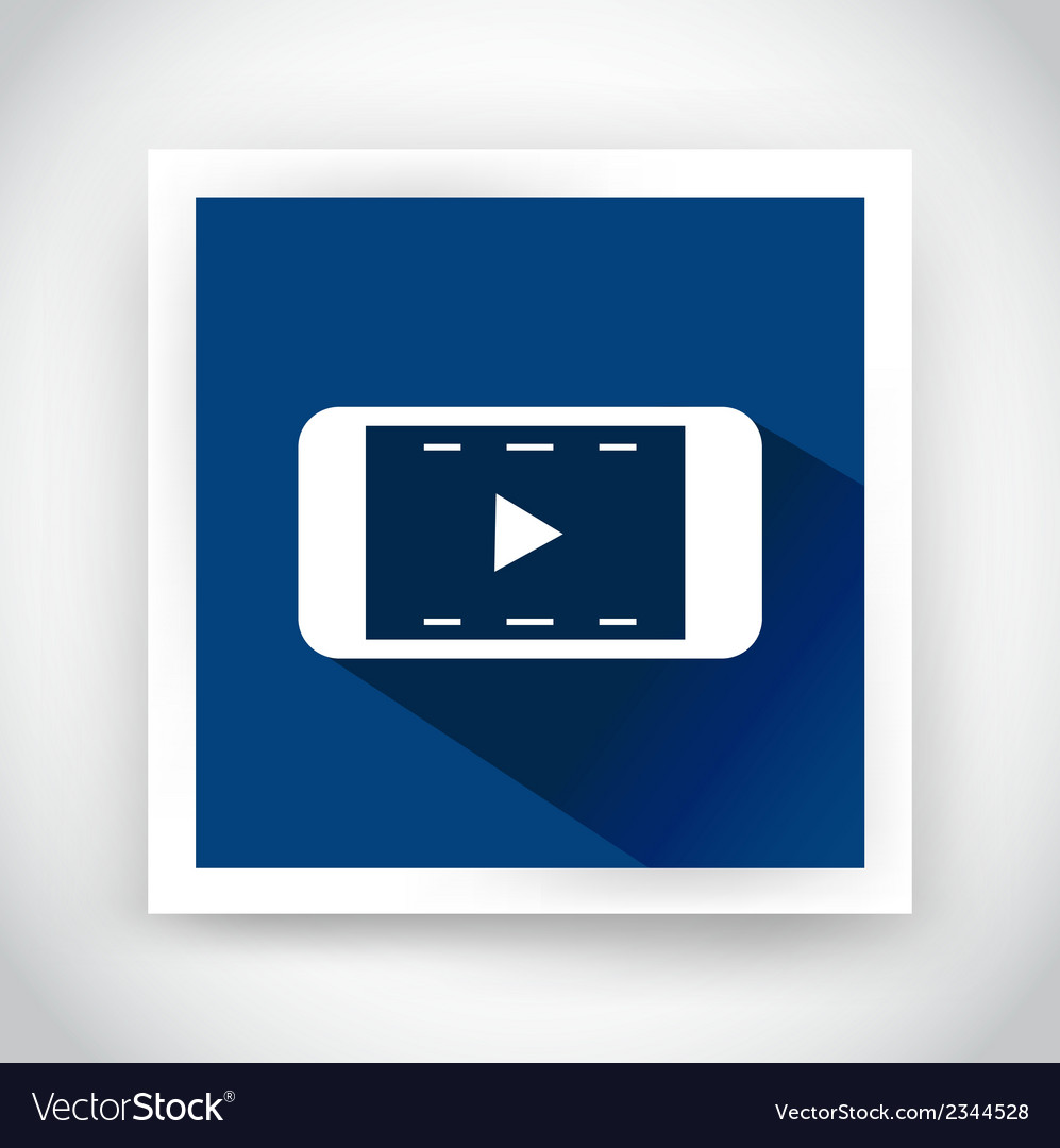 Icon of video for web and mobile applications vector | Price: 1 Credit (USD $1)