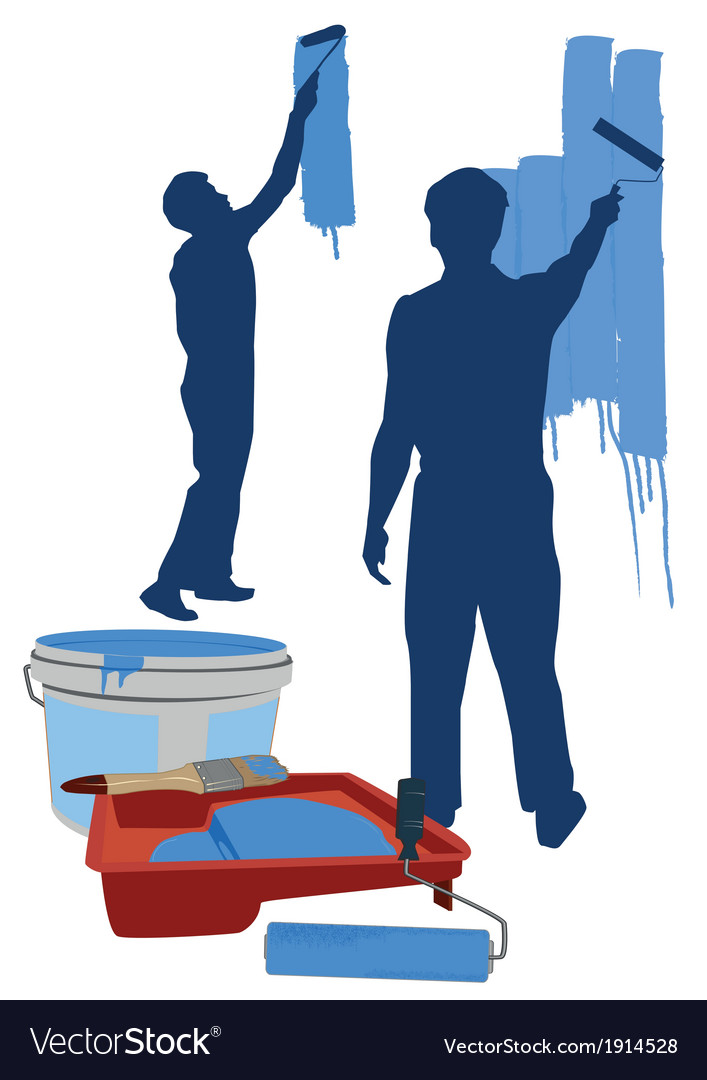 Painter and painting tools vector | Price: 1 Credit (USD $1)