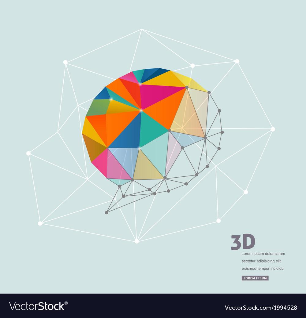 Polygonal geometric 3d speech bubble vector | Price: 1 Credit (USD $1)