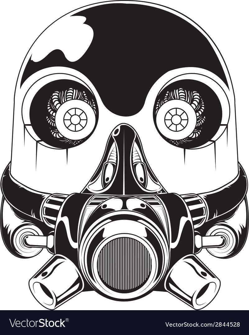 Robot mask vector | Price: 1 Credit (USD $1)