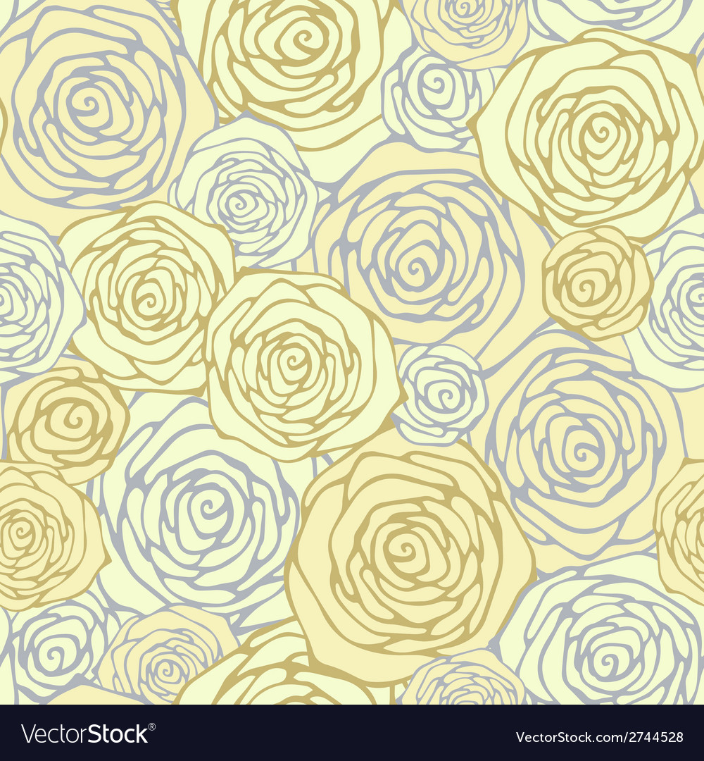 Seamless pattern with decorative roses floral vector | Price: 1 Credit (USD $1)