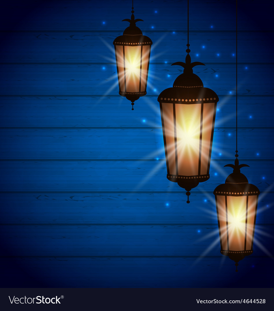 Set arabic lamps for holy month of muslim vector | Price: 1 Credit (USD $1)