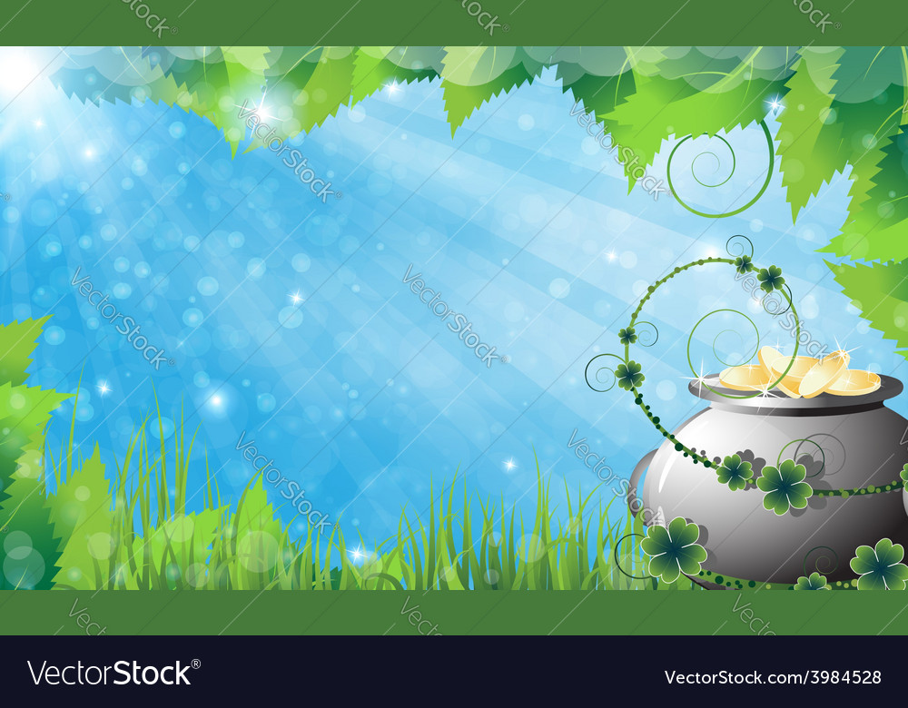 St patricks day spring background vector | Price: 1 Credit (USD $1)