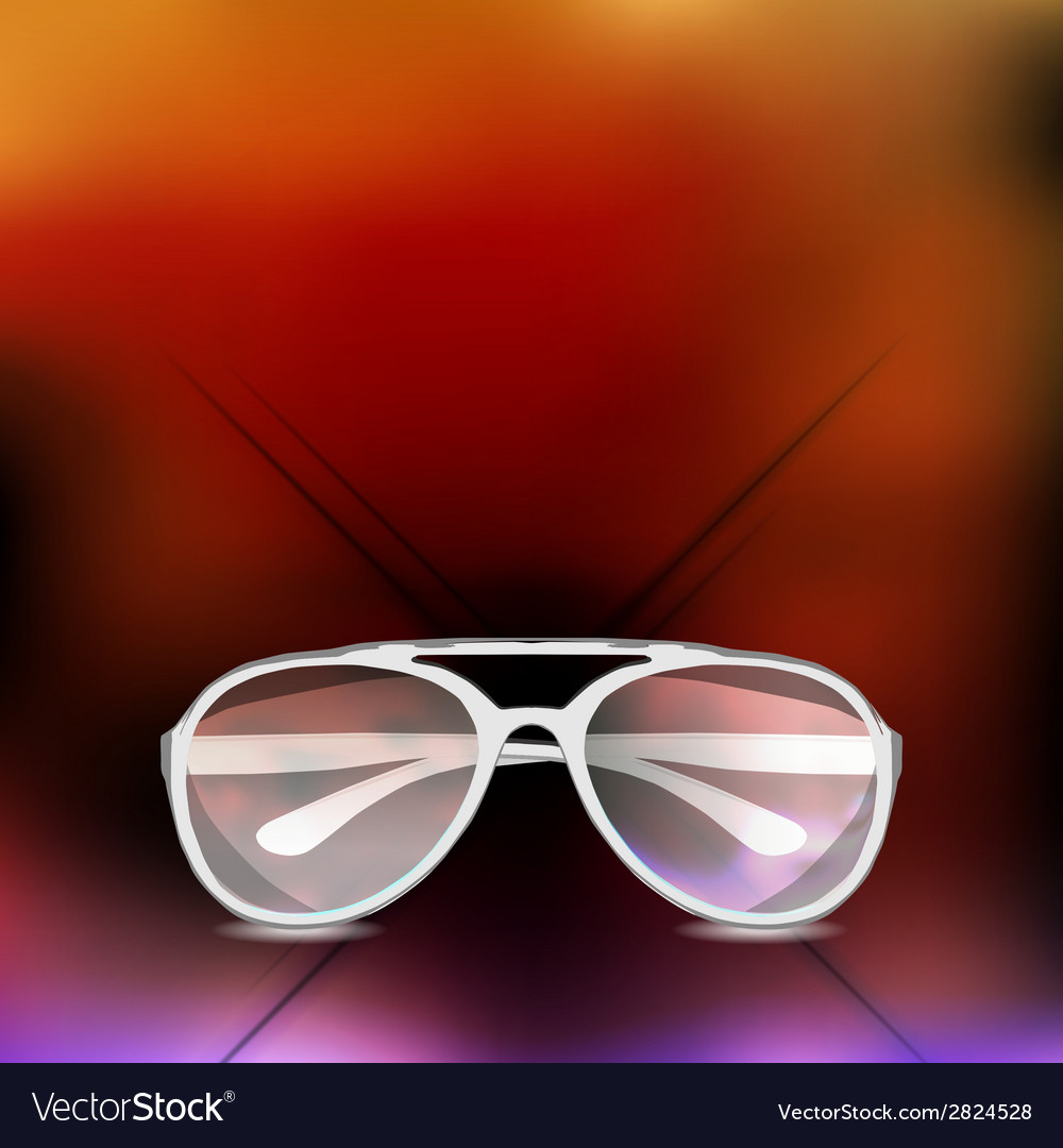 Sunglasses isolated background vector   Price: 1 Credit (USD $1)