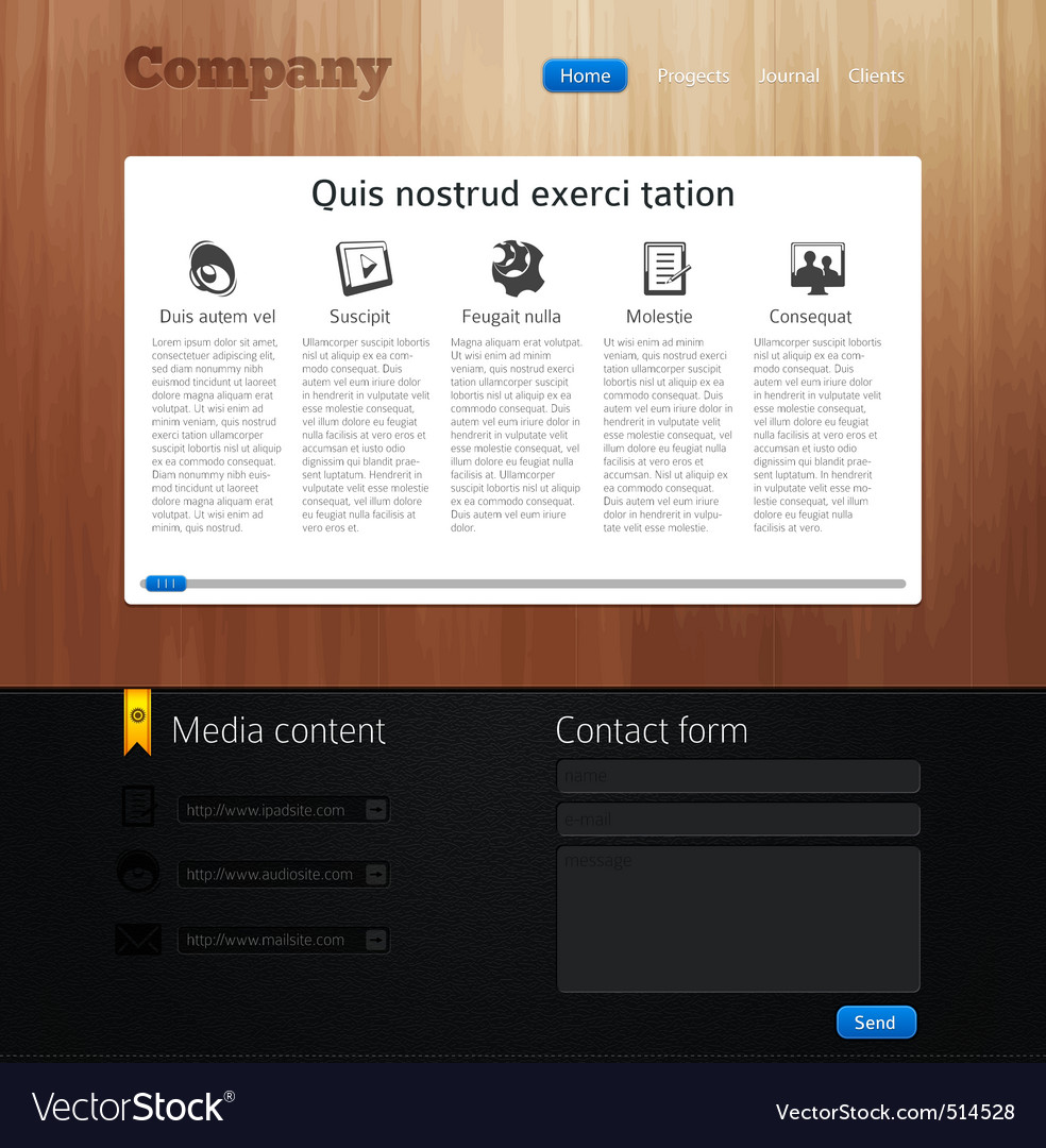 Website design template vector | Price: 3 Credit (USD $3)