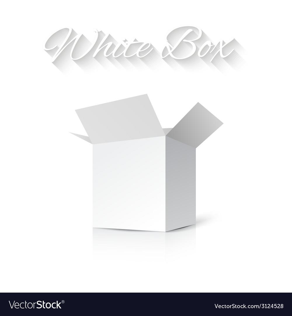 White gift carton box vector | Price: 1 Credit (USD $1)