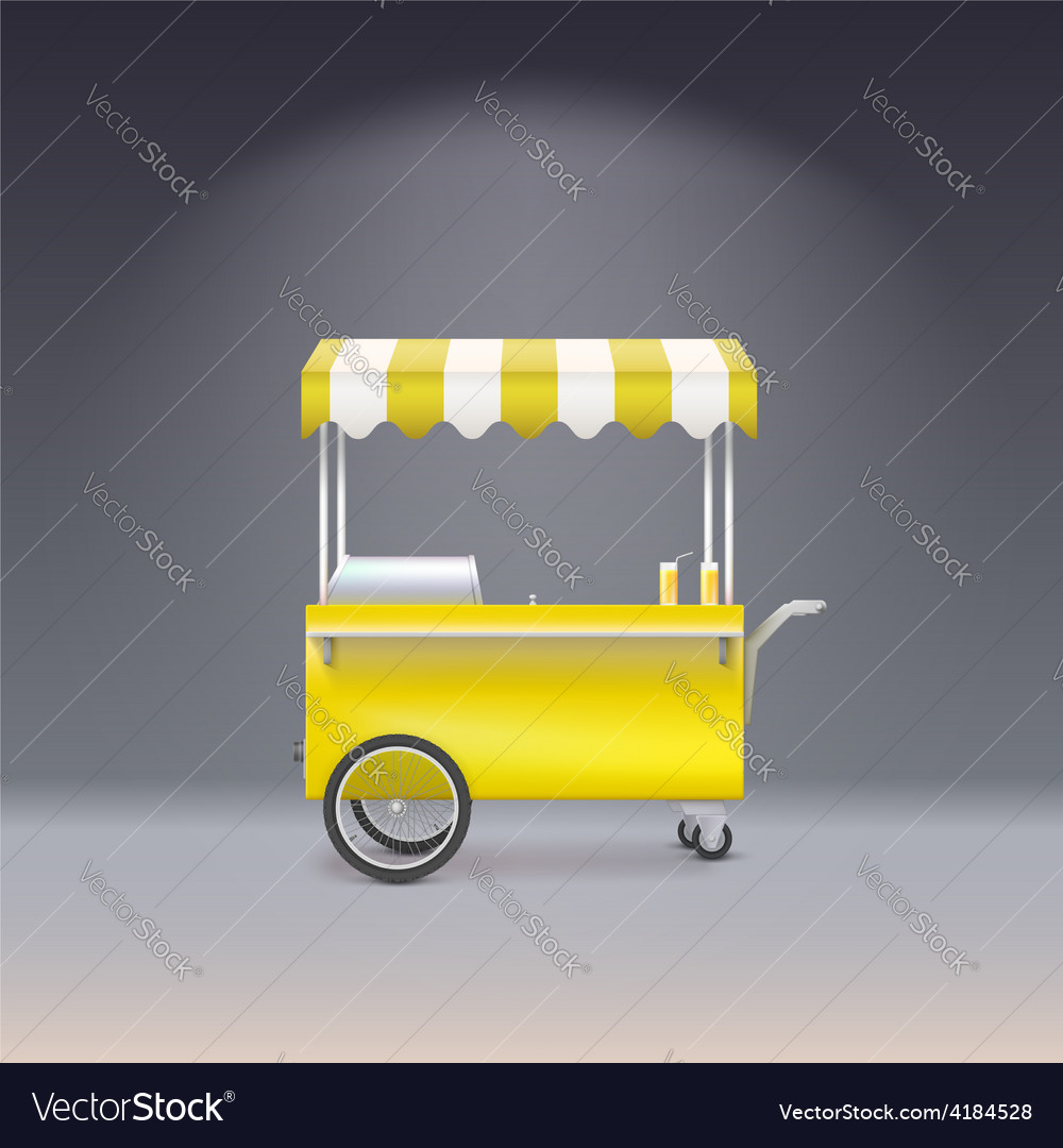 Yellow cart for sale lemonade vector | Price: 3 Credit (USD $3)