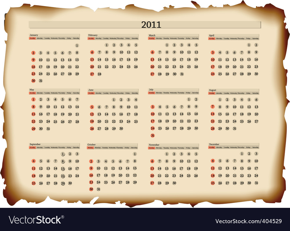 2011 calendar template vector | Price: 1 Credit (USD $1)