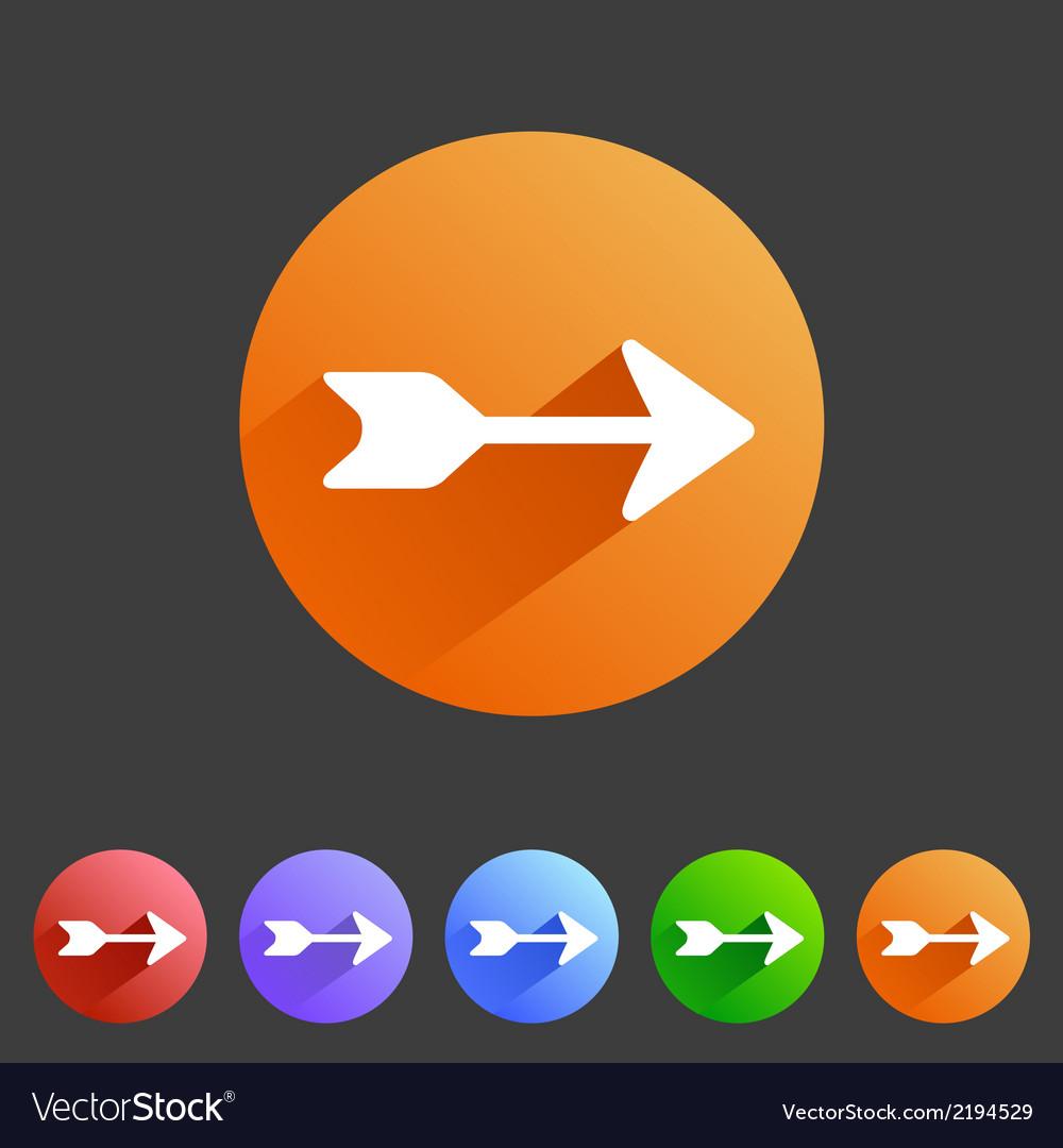 Flat arrow icons vector   Price: 1 Credit (USD $1)