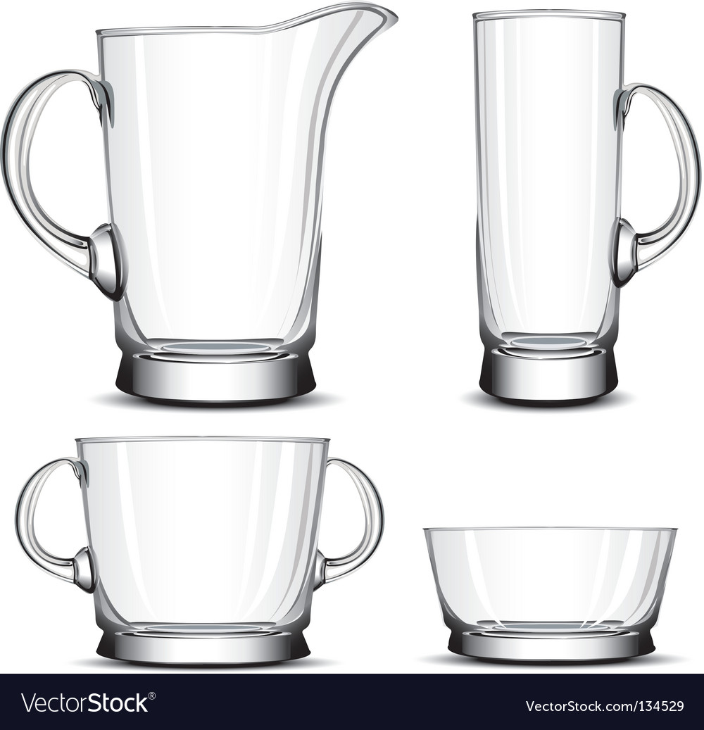 Glass tableware vector | Price: 1 Credit (USD $1)