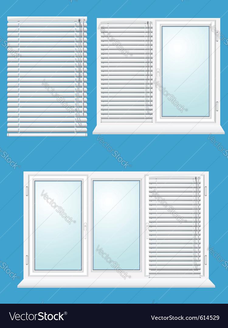 Plastic window with jalousies vector | Price: 1 Credit (USD $1)