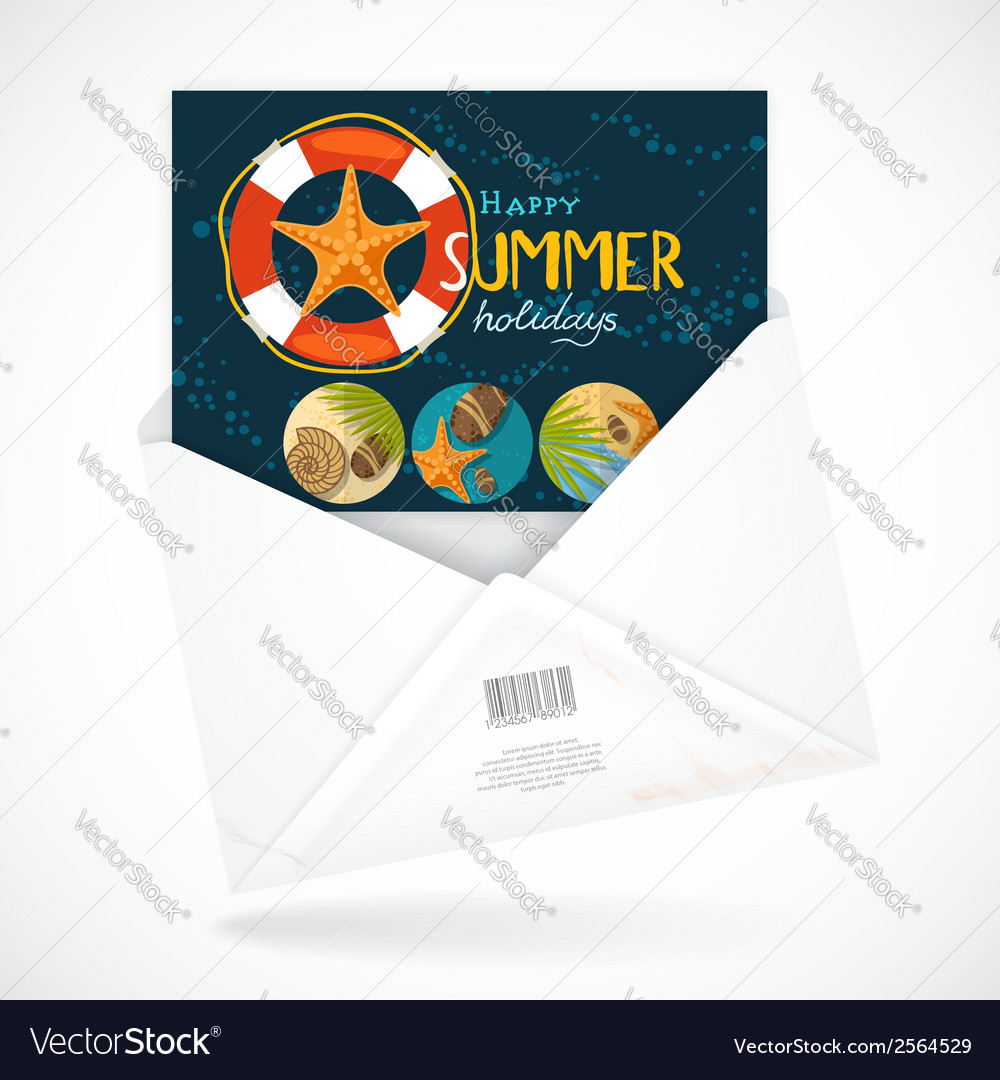 Postal envelopes with greeting card vector | Price: 1 Credit (USD $1)
