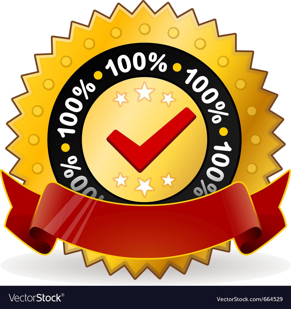 Satisfaction warranty label vector | Price: 1 Credit (USD $1)