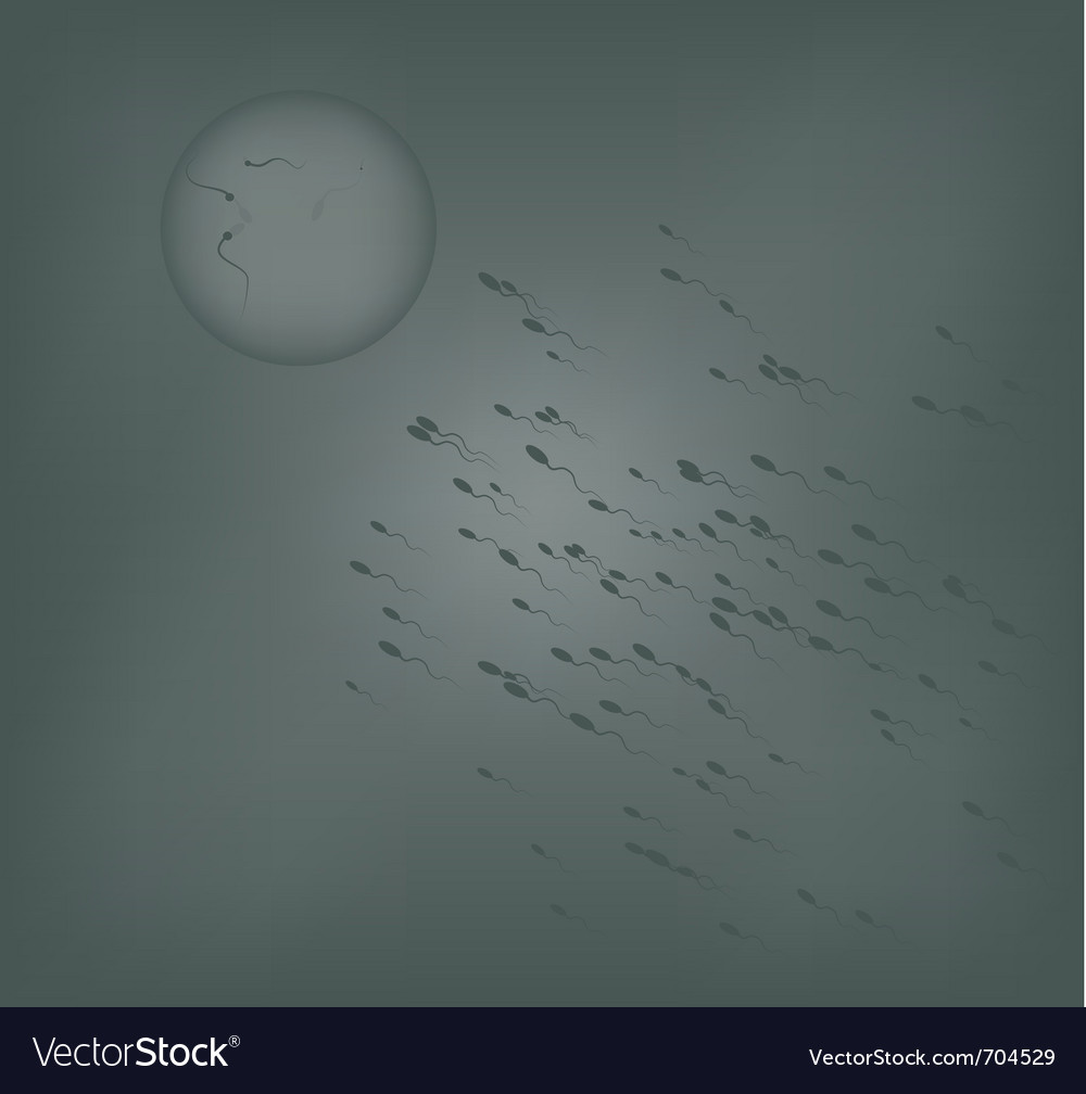 Sperm in an abstract image background vector | Price: 1 Credit (USD $1)