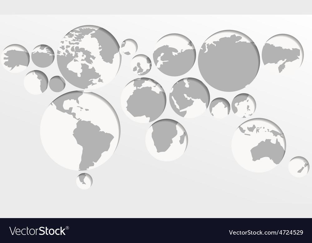 World map circles vector | Price: 1 Credit (USD $1)