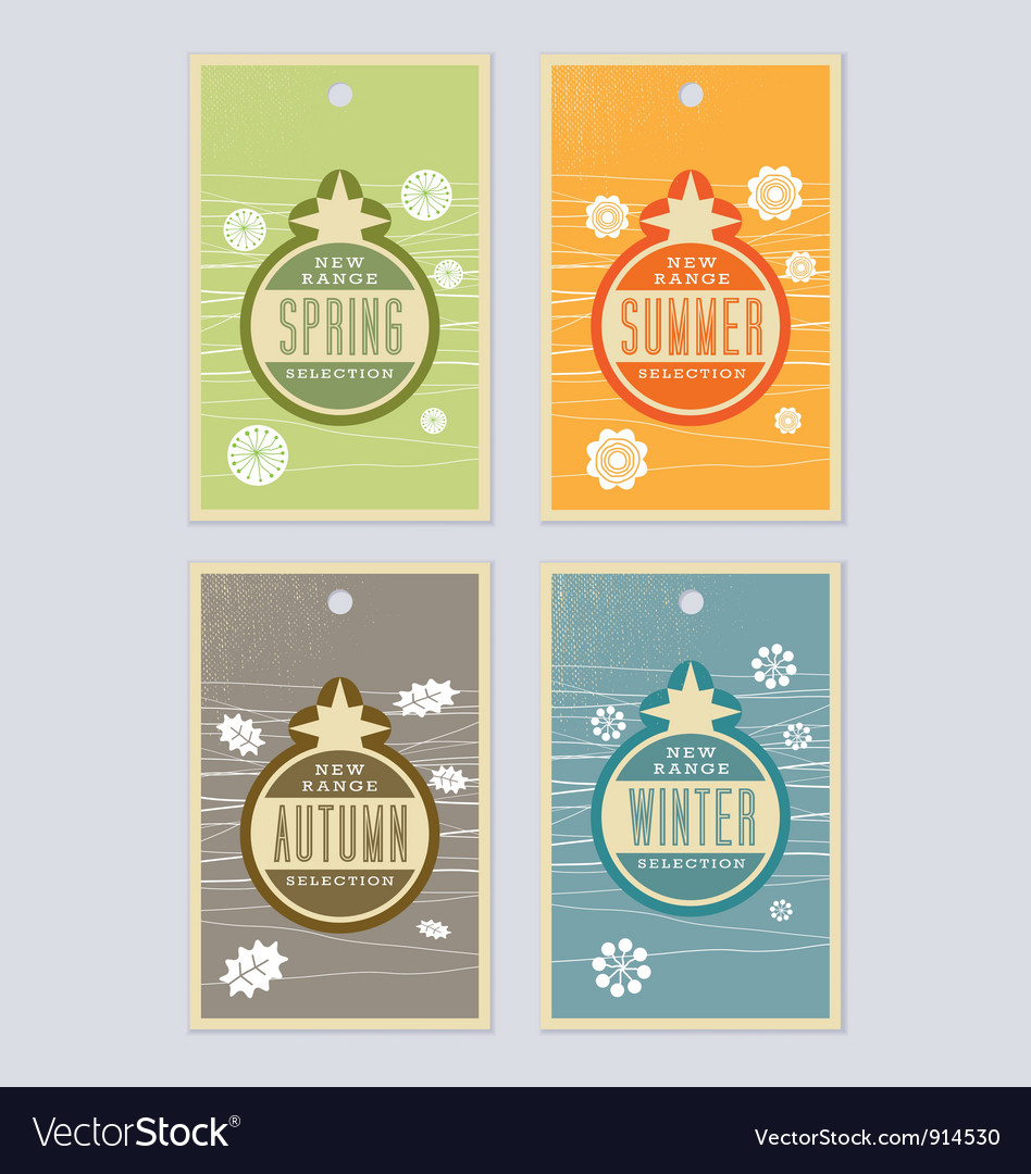 4 season labels vector | Price: 1 Credit (USD $1)