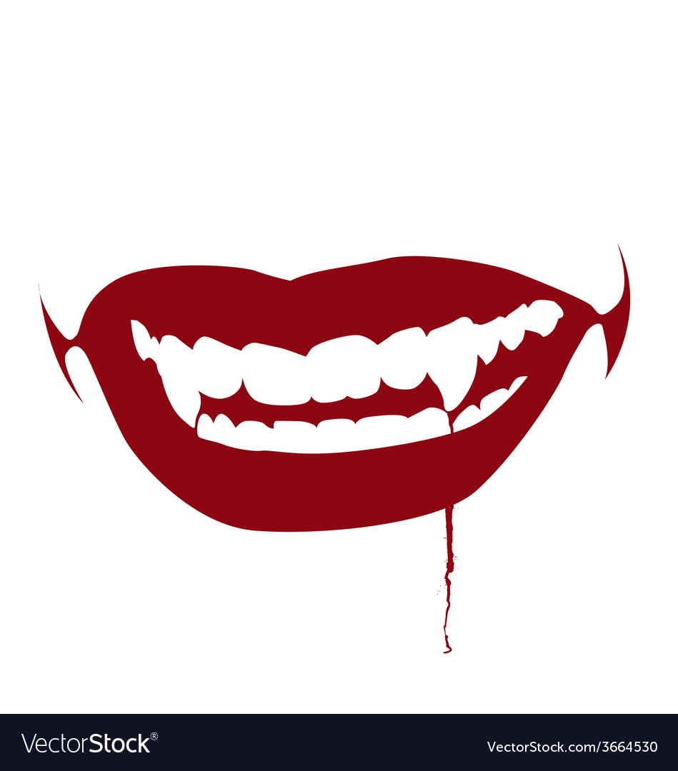Bloody kiss vector | Price: 1 Credit (USD $1)