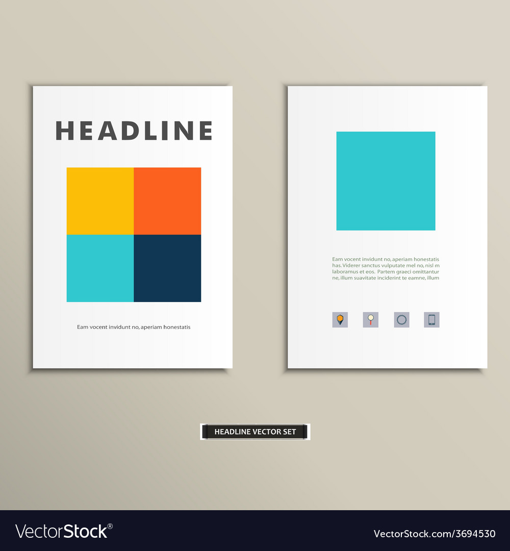 Book cover with large colored squares eps vector | Price: 1 Credit (USD $1)