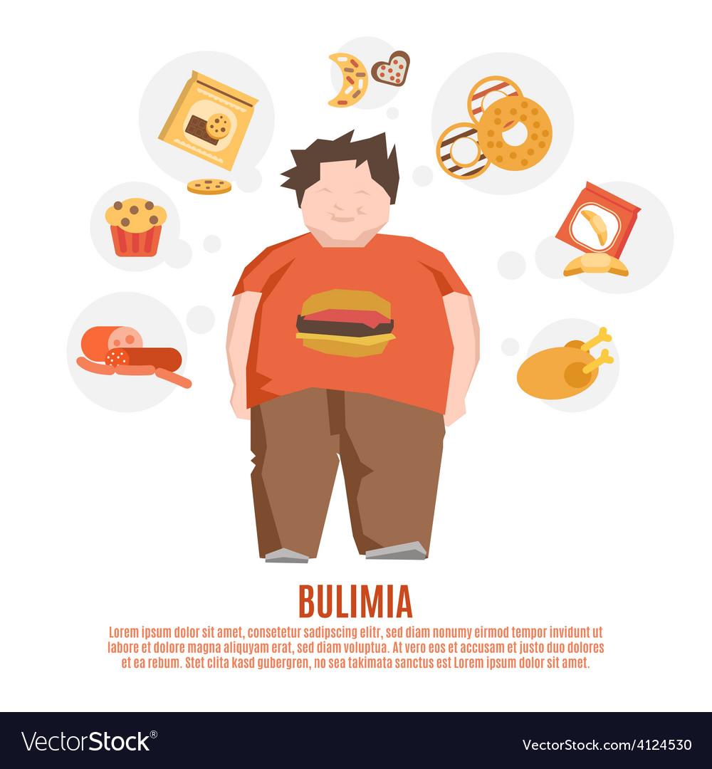 Bulimia concept flat vector   Price: 1 Credit (USD $1)