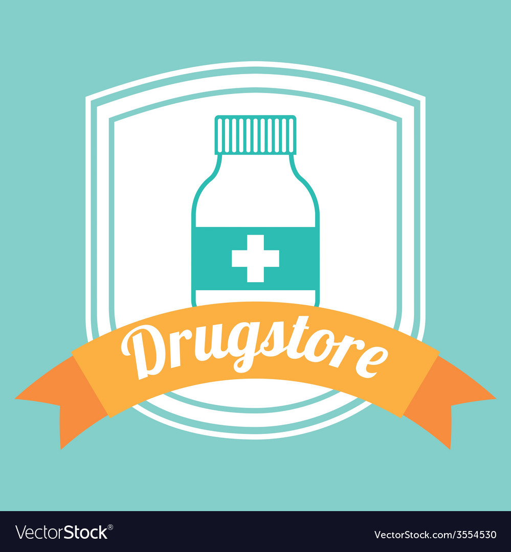 Drugstore bottle vector | Price: 1 Credit (USD $1)