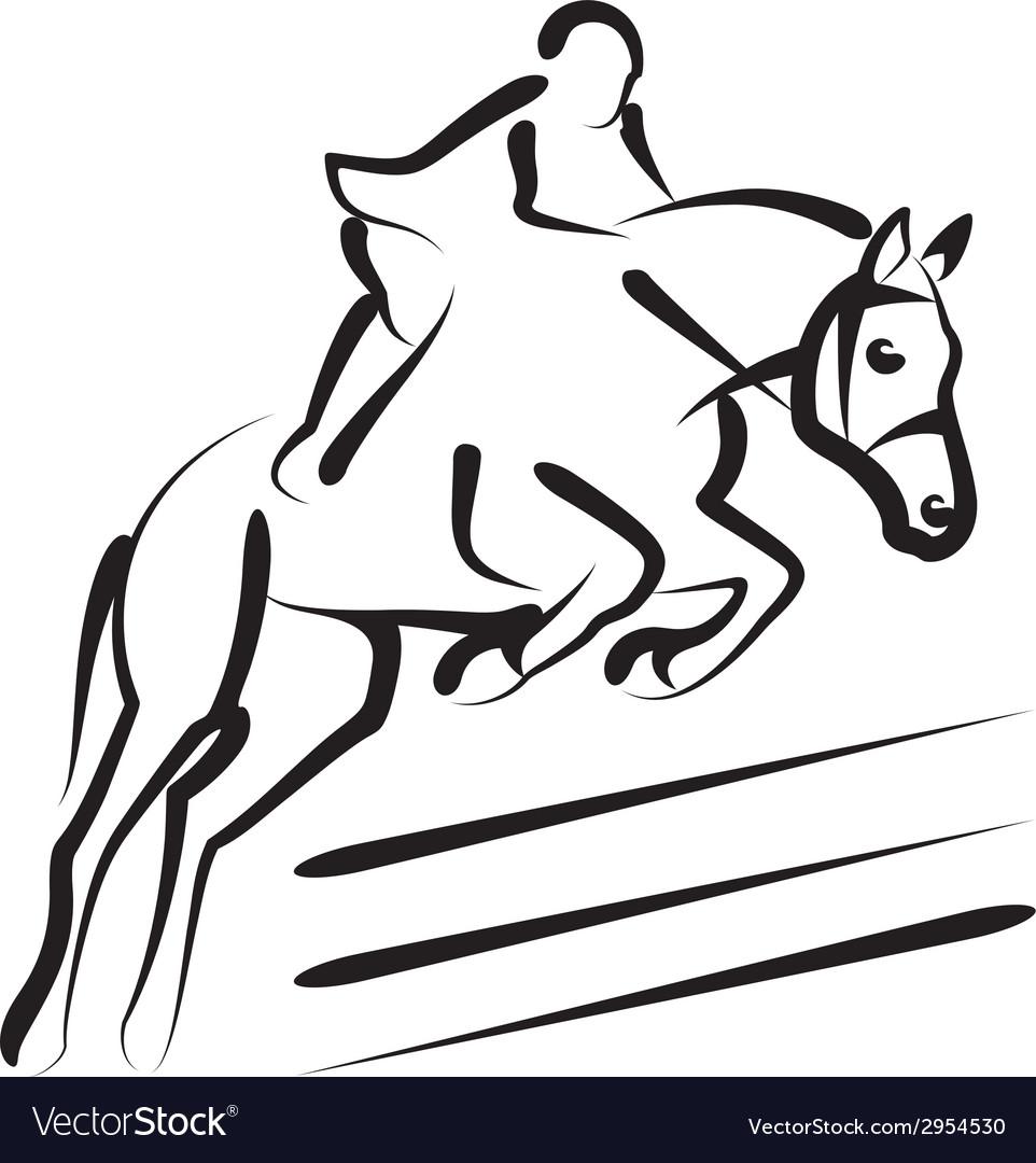 Equestrian sport vector | Price: 1 Credit (USD $1)
