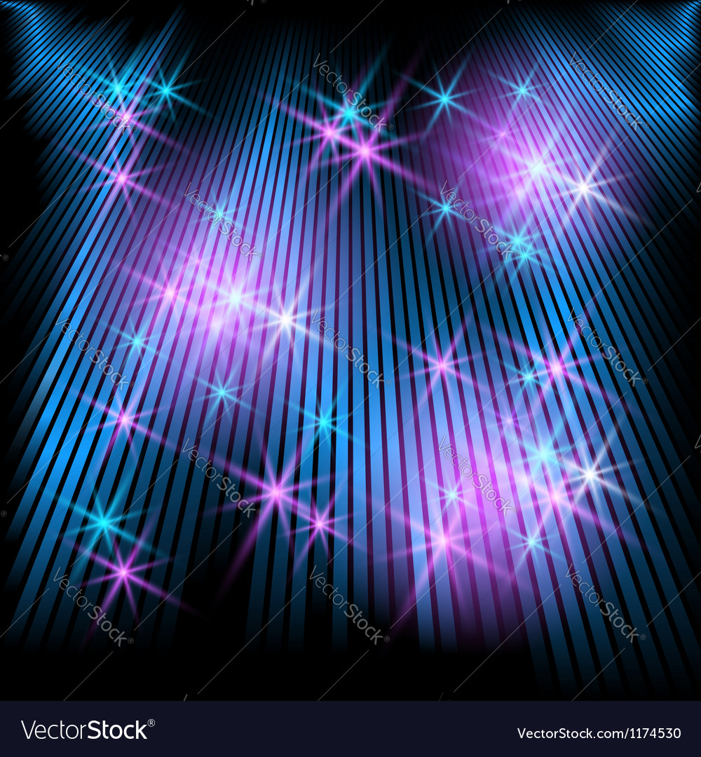 Glowing rays and stars vector | Price: 1 Credit (USD $1)