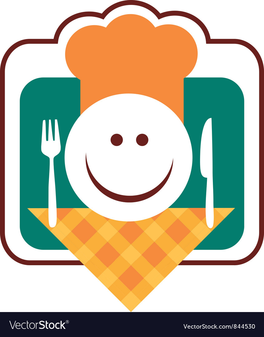 Happy smiley chef face vector | Price: 1 Credit (USD $1)