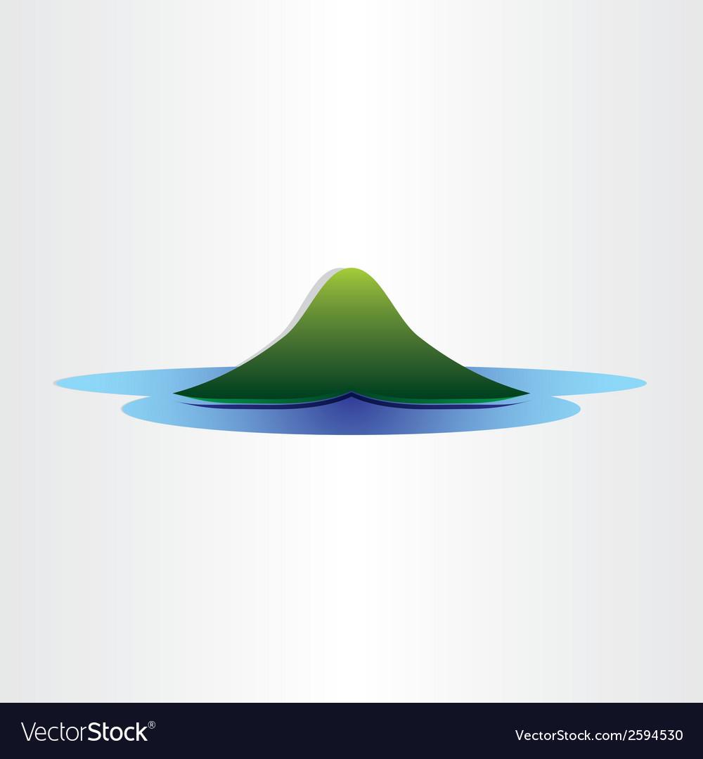 Mountain island in ocean abstract symbol design vector   Price: 1 Credit (USD $1)