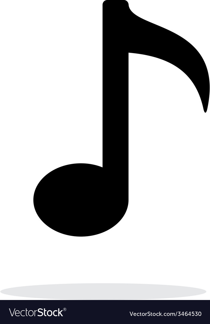 Musical note icon on white background vector | Price: 1 Credit (USD $1)