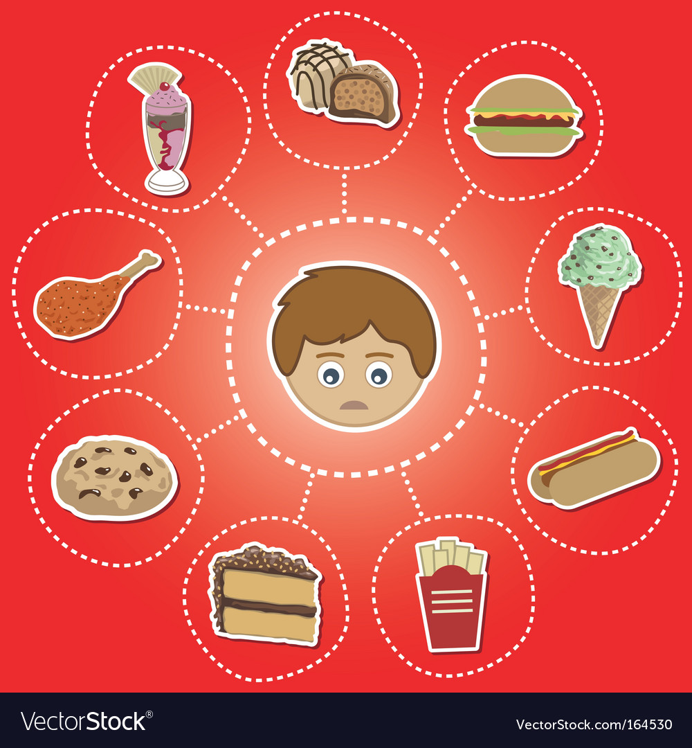 Unhealthy food options vector | Price: 1 Credit (USD $1)