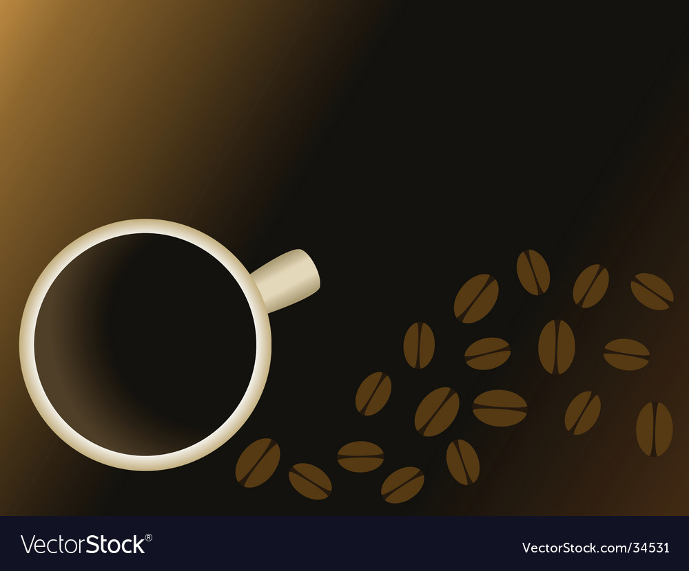 Coffee and beans background vector | Price: 1 Credit (USD $1)