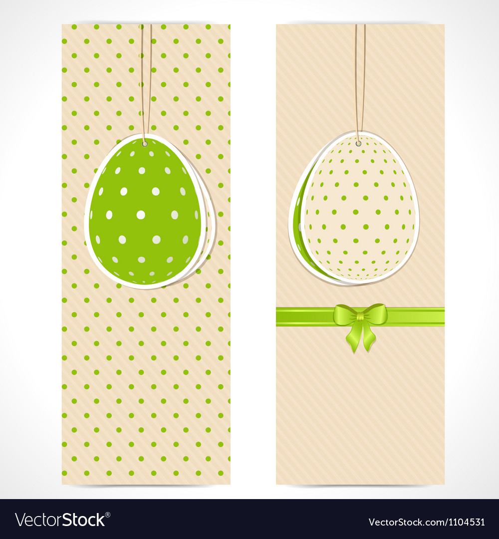 Easter egg banner backgrounds and ribbon vector | Price: 1 Credit (USD $1)