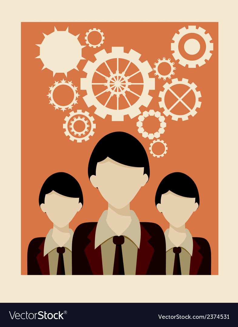 Employees vector | Price: 1 Credit (USD $1)