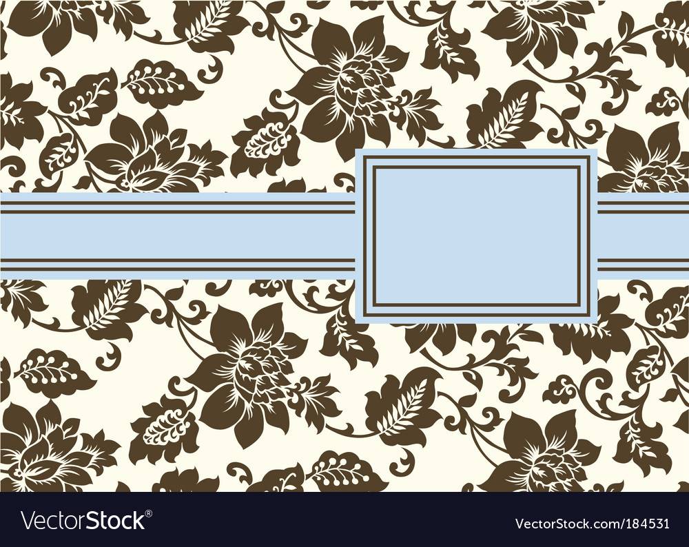 Floral pattern and frame vector | Price: 1 Credit (USD $1)