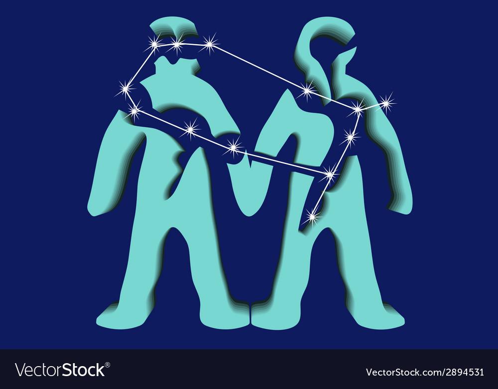 Gemini sign vector | Price: 1 Credit (USD $1)