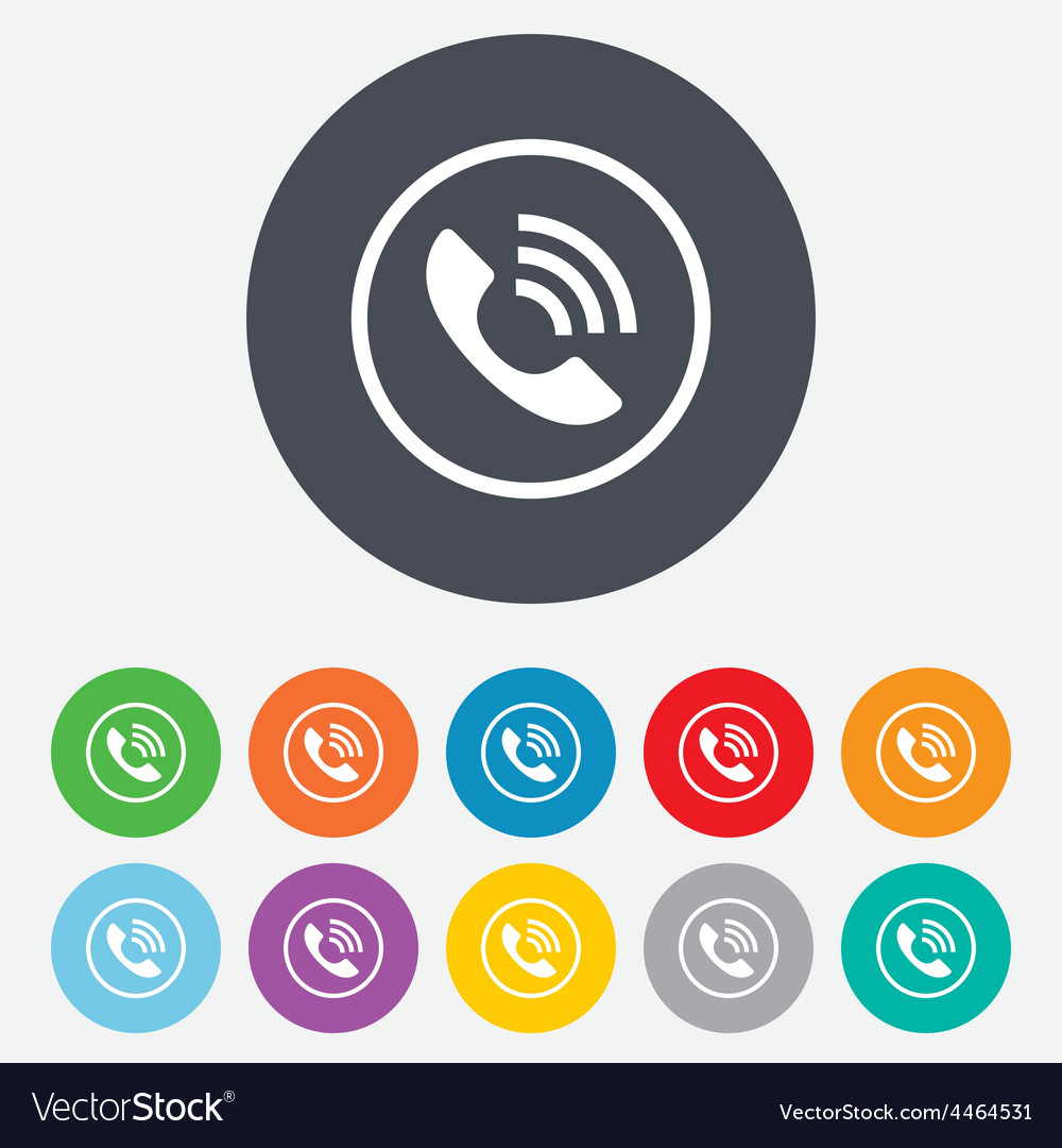 Phone sign icon call support symbol vector | Price: 1 Credit (USD $1)