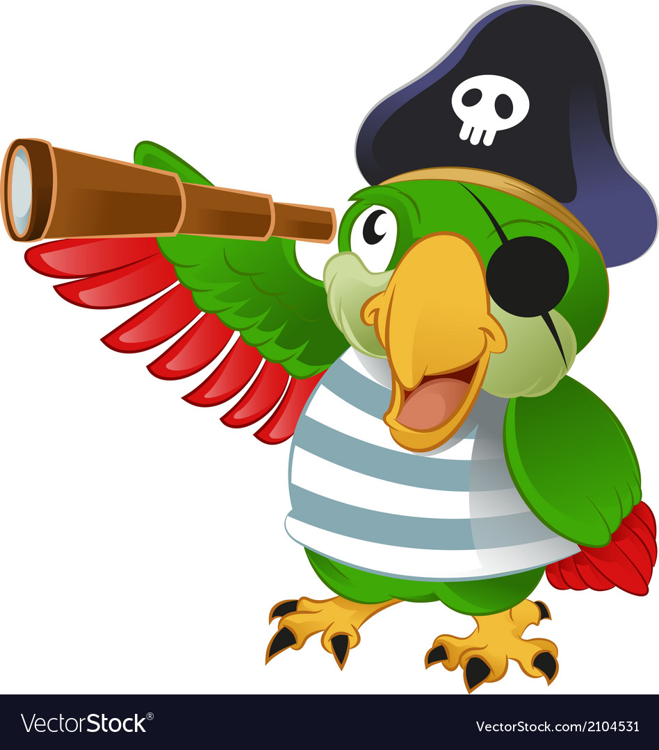 Pirate parrot vector | Price: 1 Credit (USD $1)