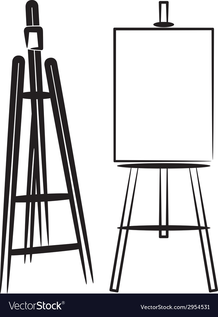Simple with easels vector | Price: 1 Credit (USD $1)