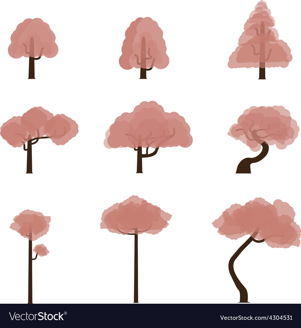 Tree collection 7 vector   Price: 1 Credit (USD $1)