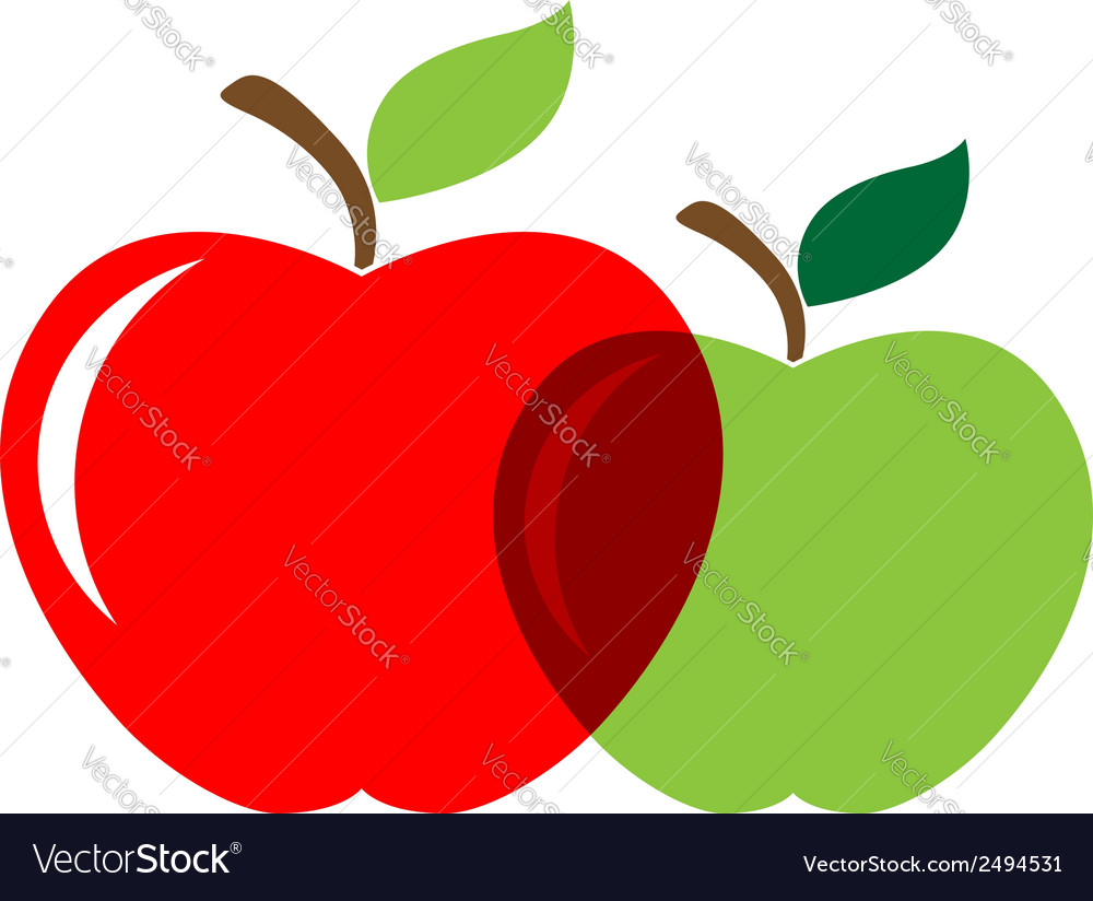 Two appels vector | Price: 1 Credit (USD $1)