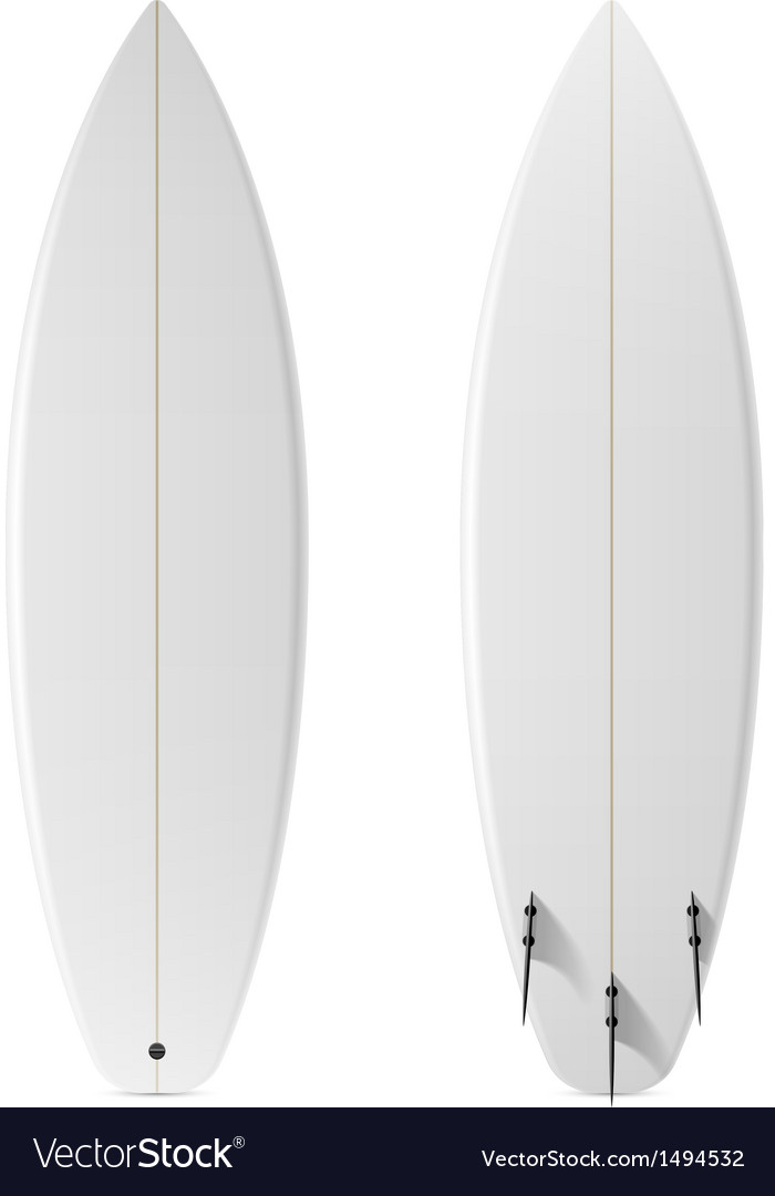 Blank surfboard vector | Price: 1 Credit (USD $1)