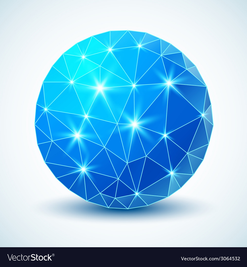 Blue technology geometric ball for your design vector | Price: 1 Credit (USD $1)